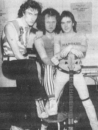 Nick John, Lee Burrows and Steve Jones